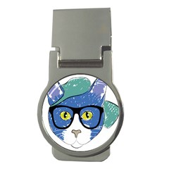 Drawing Cat Pet Feline Pencil Money Clips (round)  by Sapixe