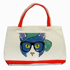Drawing Cat Pet Feline Pencil Classic Tote Bag (red) by Sapixe