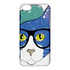 Drawing Cat Pet Feline Pencil Apple Iphone 5c Hardshell Case by Sapixe