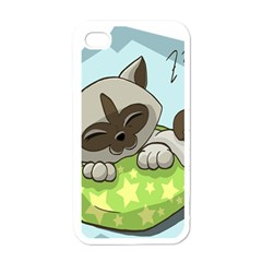 Kitten Kitty Cat Sleeping Sleep Apple Iphone 4 Case (white)