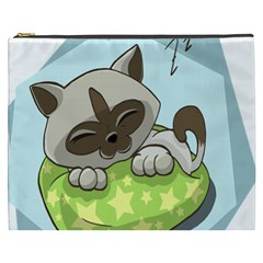 Kitten Kitty Cat Sleeping Sleep Cosmetic Bag (xxxl)  by Sapixe