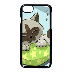 Kitten Kitty Cat Sleeping Sleep Apple Iphone 8 Seamless Case (black) by Sapixe