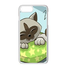 Kitten Kitty Cat Sleeping Sleep Apple Iphone 8 Plus Seamless Case (white) by Sapixe