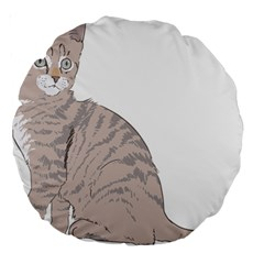Kitten Cat Drawing Line Art Line Large 18  Premium Round Cushions