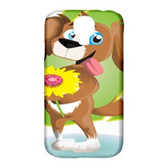 Dog Character Animal Flower Cute Samsung Galaxy S4 Classic Hardshell Case (pc+silicone) by Sapixe