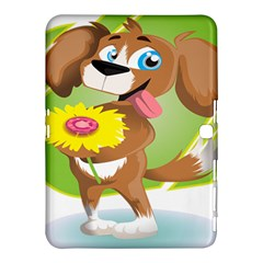 Dog Character Animal Flower Cute Samsung Galaxy Tab 4 (10 1 ) Hardshell Case