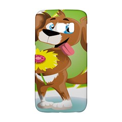 Dog Character Animal Flower Cute Samsung Galaxy S6 Edge Hardshell Case by Sapixe