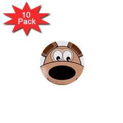 Doh Puppy Happy Pet Hound Animal 1  Mini Buttons (10 Pack)
