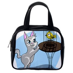 Cat Bird Cage Hunt Hunting Pet Classic Handbags (one Side) by Sapixe