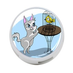 Cat Bird Cage Hunt Hunting Pet 4 Port Usb Hub (one Side) by Sapixe