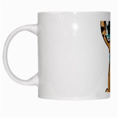 Kitty Cat Big Eyes Ears Animal White Mugs