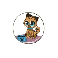 Kitty Cat Big Eyes Ears Animal Hat Clip Ball Marker (4 Pack) by Sapixe
