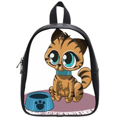 Kitty Cat Big Eyes Ears Animal School Bag (small) by Sapixe