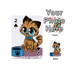 Kitty Cat Big Eyes Ears Animal Playing Cards 54 (mini)  by Sapixe
