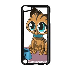 Kitty Cat Big Eyes Ears Animal Apple Ipod Touch 5 Case (black)
