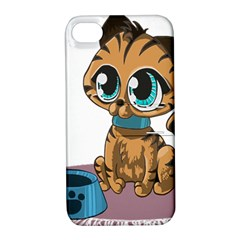 Kitty Cat Big Eyes Ears Animal Apple Iphone 4/4s Hardshell Case With Stand by Sapixe