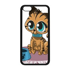 Kitty Cat Big Eyes Ears Animal Apple Iphone 5c Seamless Case (black) by Sapixe