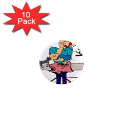 Housewife Multitasking Woman 1  Mini Magnet (10 Pack)