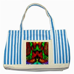 Faces Striped Blue Tote Bag