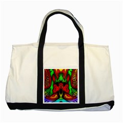 Faces Two Tone Tote Bag