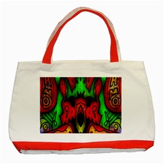 Faces Classic Tote Bag (Red)
