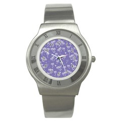 Tropical Pattern Stainless Steel Watch by Valentinaart