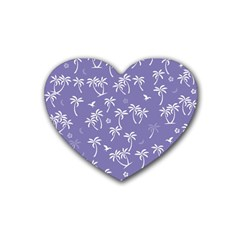 Tropical Pattern Rubber Coaster (heart)  by Valentinaart
