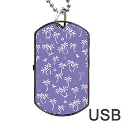 Tropical Pattern Dog Tag Usb Flash (two Sides) by Valentinaart