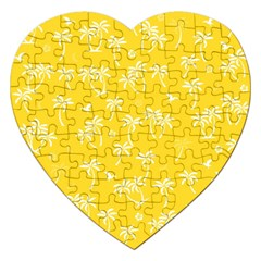 Tropical Pattern Jigsaw Puzzle (heart) by Valentinaart