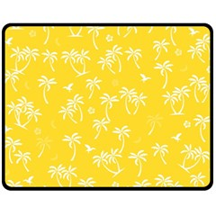 Tropical Pattern Fleece Blanket (medium)  by Valentinaart