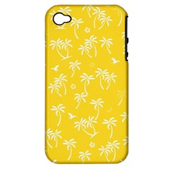 Tropical Pattern Apple Iphone 4/4s Hardshell Case (pc+silicone) by Valentinaart