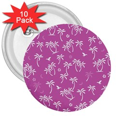 Tropical Pattern 3  Buttons (10 Pack)  by Valentinaart