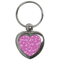 Tropical Pattern Key Chains (heart)  by Valentinaart