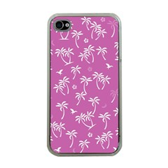 Tropical Pattern Apple Iphone 4 Case (clear) by Valentinaart