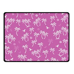 Tropical Pattern Double Sided Fleece Blanket (small)