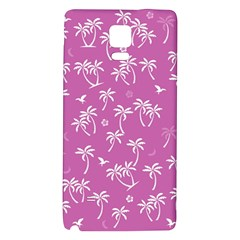 Tropical Pattern Samsung Note 4 Hardshell Back Case by Valentinaart