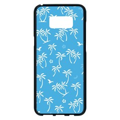 Tropical Pattern Samsung Galaxy S8 Plus Black Seamless Case