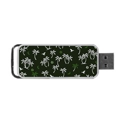Tropical Pattern Portable Usb Flash (two Sides)