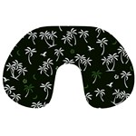 Tropical pattern Travel Neck Pillows Back