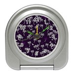 Tropical pattern Travel Alarm Clocks Front