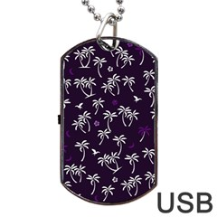 Tropical Pattern Dog Tag Usb Flash (one Side) by Valentinaart