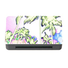 Palm Trees Tropical Beach Scenes Coastal Sketch Colored Neon Memory Card Reader With Cf by CrypticFragmentsColors