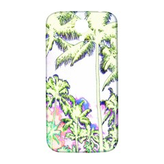 Palm Trees Tropical Beach Scenes Coastal Sketch Colored Neon Samsung Galaxy S4 I9500/i9505  Hardshell Back Case by CrypticFragmentsColors