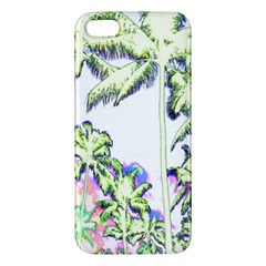 Palm Trees Tropical Beach Scenes Coastal Sketch Colored Neon Iphone 5s/ Se Premium Hardshell Case by CrypticFragmentsColors