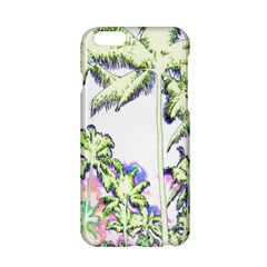 Palm Trees Tropical Beach Scenes Coastal Sketch Colored Neon Apple Iphone 6/6s Hardshell Case by CrypticFragmentsColors