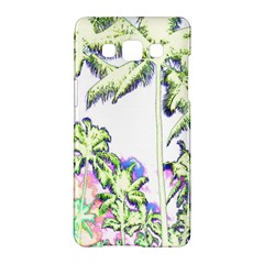 Palm Trees Tropical Beach Scenes Coastal Sketch Colored Neon Samsung Galaxy A5 Hardshell Case  by CrypticFragmentsColors
