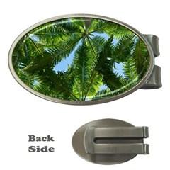 Paradise Under The Palms Money Clips (oval)  by CrypticFragmentsColors