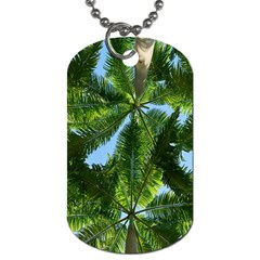 Paradise Under The Palms Dog Tag (two Sides) by CrypticFragmentsColors