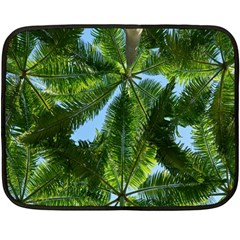 Paradise Under The Palms Double Sided Fleece Blanket (mini)  by CrypticFragmentsColors