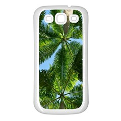 Paradise Under The Palms Samsung Galaxy S3 Back Case (white) by CrypticFragmentsColors